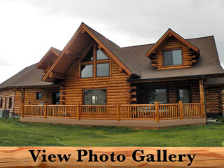 Flathead Lake Montana Amish Log Home