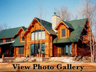 Milk River Montana Amish Log Home