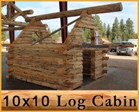 10 x 10 Cabin Log Package Details