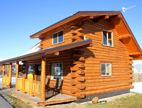 Montana Log Cabins Amish Built Meadowlark Log Homes