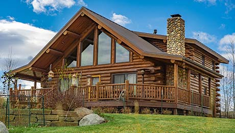 Bon Montana Log Homes | Amish Log Builders | Meadowlark Log Homes ...