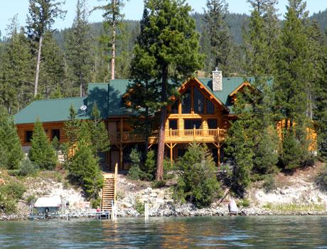 Montana Log Cabins Amish Built Meadowlark Log Homes