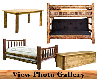 Rustic Amish Handcrafted Log Furniture