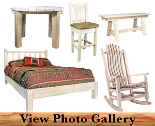 Handcrafted Amish Log Furniture