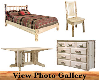 Rustic Amish Pine Log Furniture