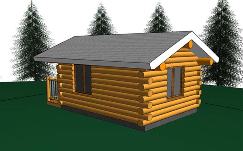 Aspen 12x16 Log Cabin Meadowlark Log Homes