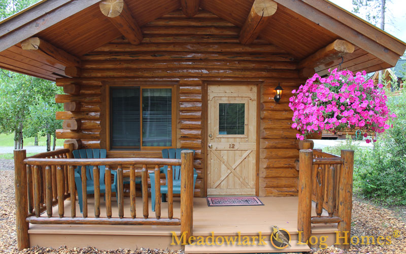 16x20 log cabin meadowlark log homes for Small log cabin homes pictures