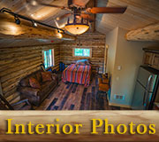 18x24 Log Cabin Interior