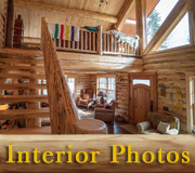 Swiss Chalet Log Home Interior