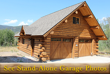Amish Stand-Alone Log Garages