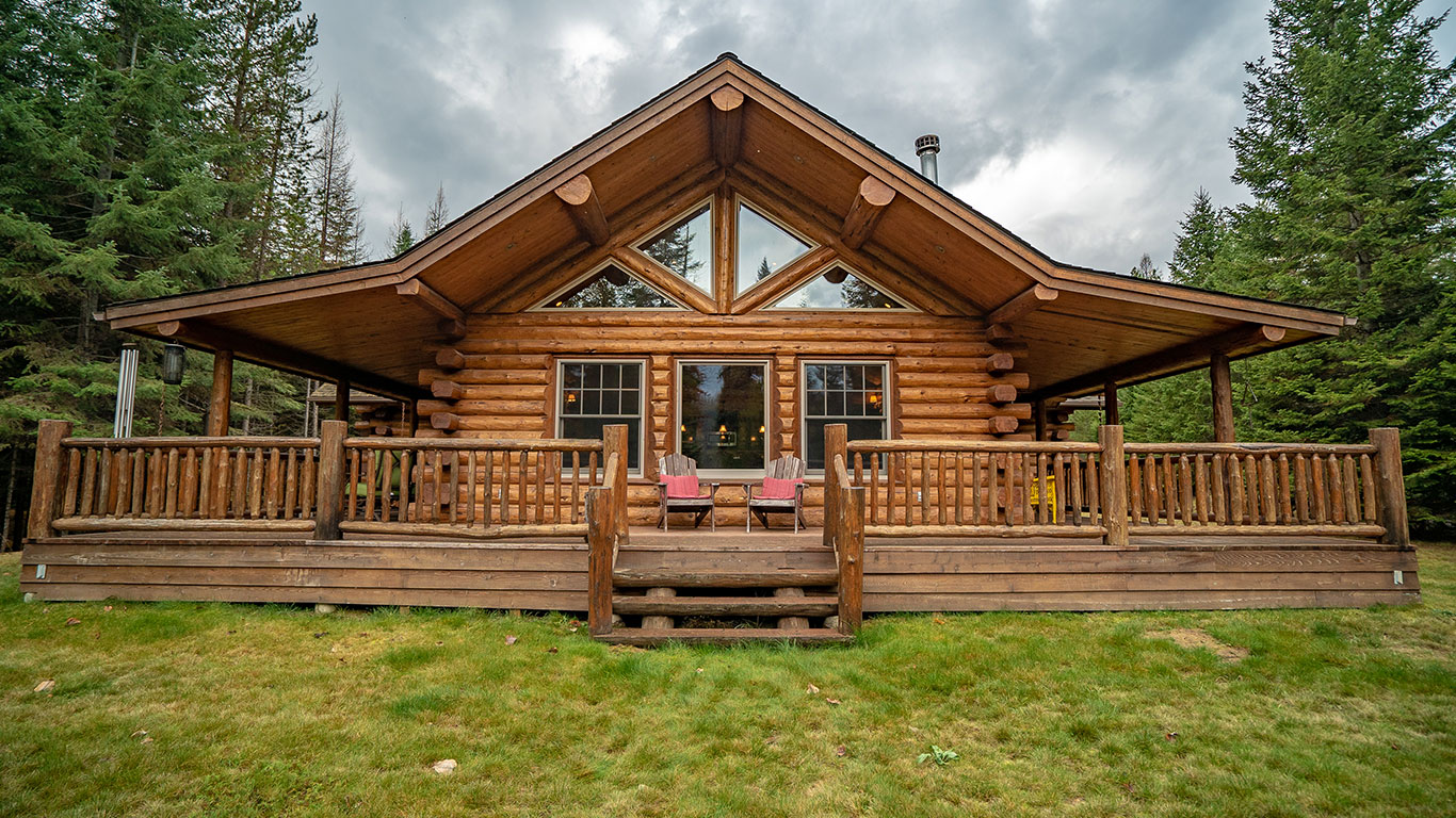 Log Home Designs | Lake Creek Meadowlark Log Homes