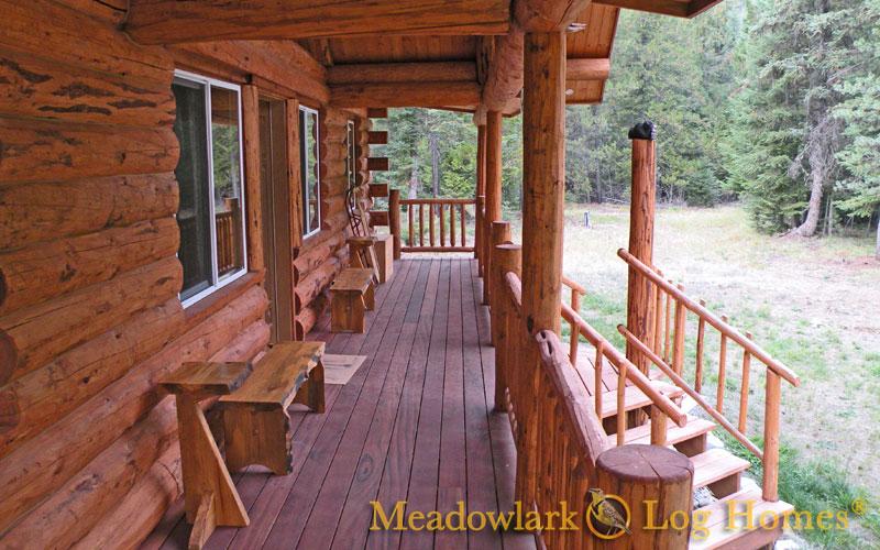 montana rancher log homestead meadowlark log homes