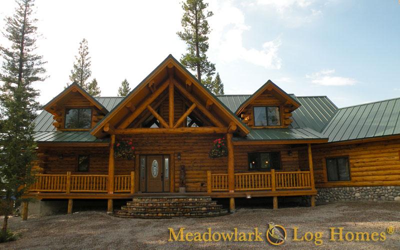Hart S Content Log Lodge Meadowlark Log Homes