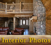 Hart's Content Log Lodge Interior