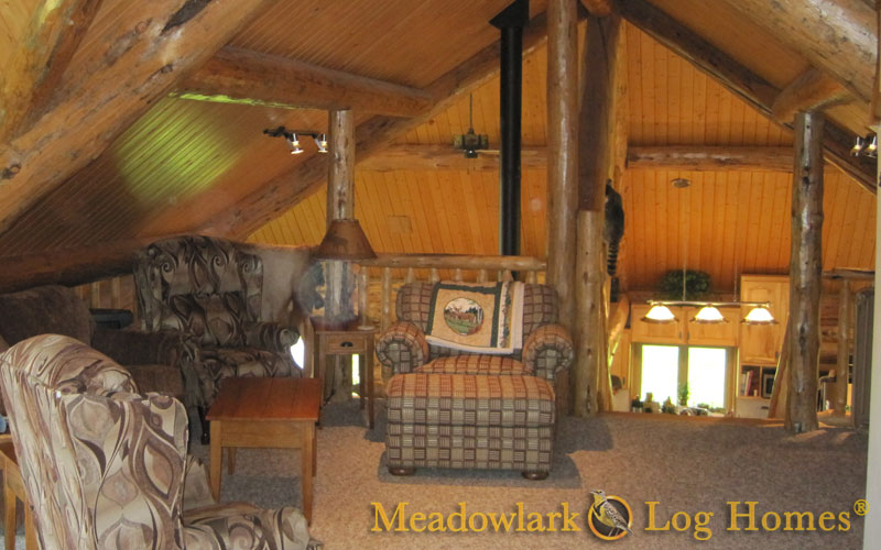 Killdeer Log Lodge Meadowlark Log Homes