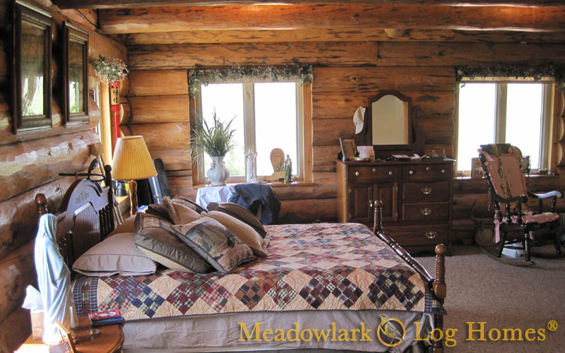 Killdeer Log Lodge - Meadowlark Log Homes