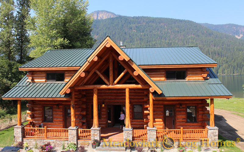 Montana lodge meadowlark log homes for Montana home builders