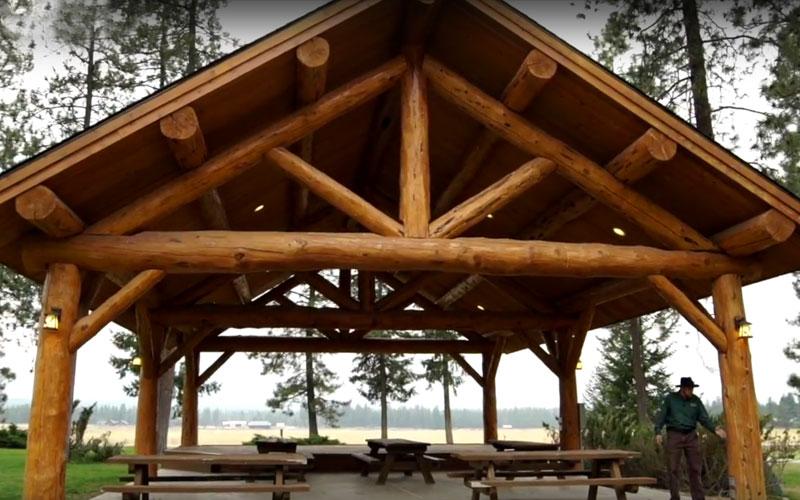 30x40 Log Pavilion Meadowlark Log Homes