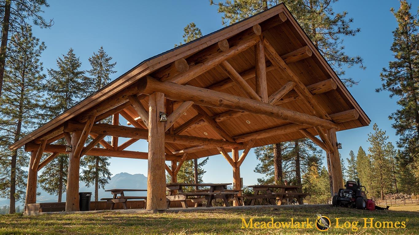 30x40 Meadowlark Log Pavilion Meadowlark Log Homes