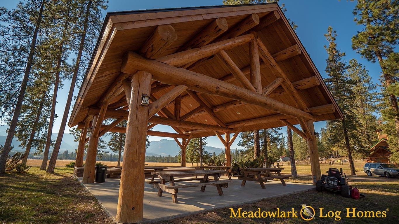 Meadowlark Log Pavilion Homes