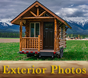 Meadowlark Tiny Log Home Exterior