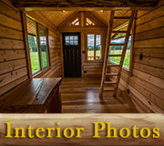 Meadowlark Tiny Log Home Interior