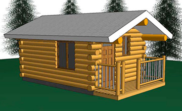Aspen Cabin 12x16 Amish Log Cabin