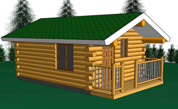 Yukon 14x18 Log Cabin