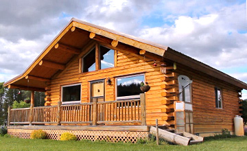 Green Valley Rancher Single Level Log Home