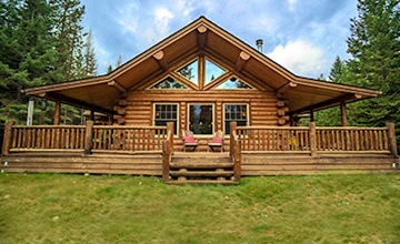 Trout Creek Single Level Log Home