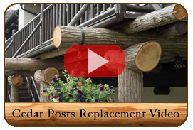 Lake McDonald Lodge in Glacier National Park Cedar Post Replacement
