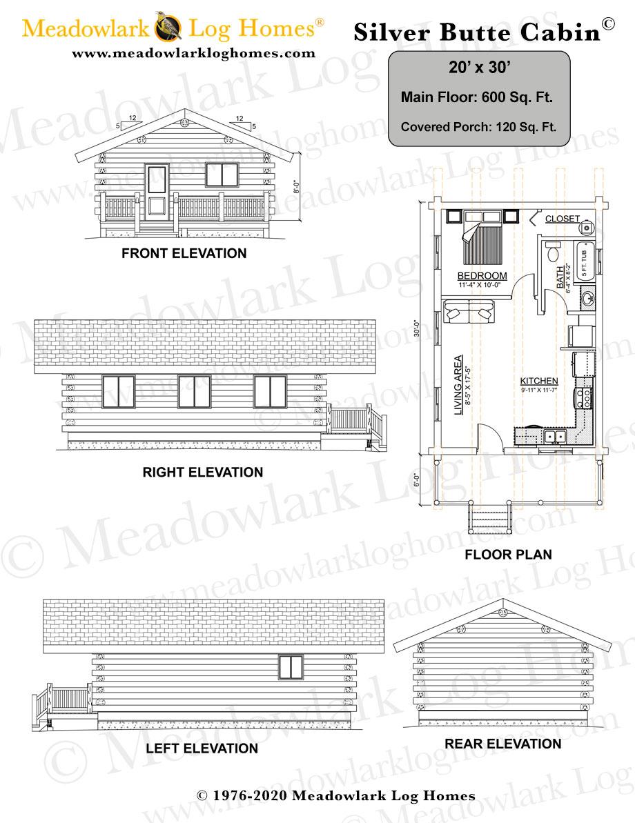20x30 Log Cabin Meadowlark Homes