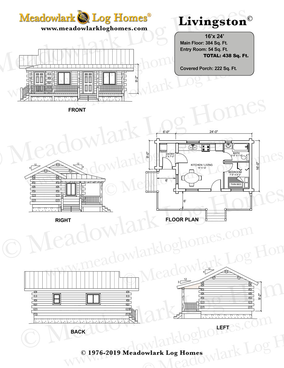 Small 2 Story House Plans: 16x24 House Plans - Google Search