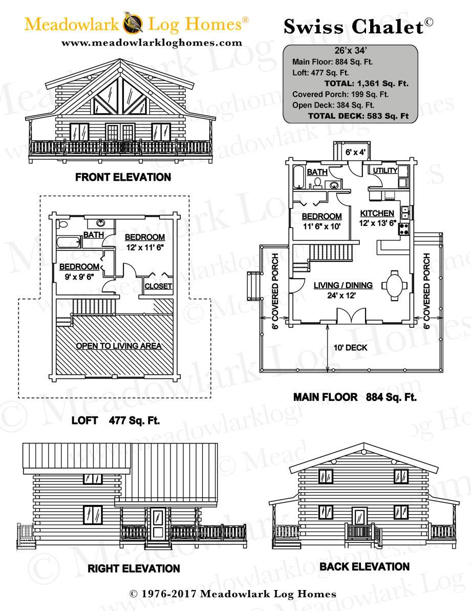 swiss chalet home plans