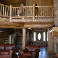Meadowlark Log Loft Railing