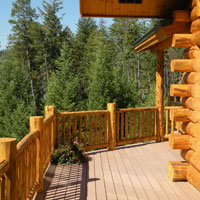 Meadowlark Log Open Deck Railing