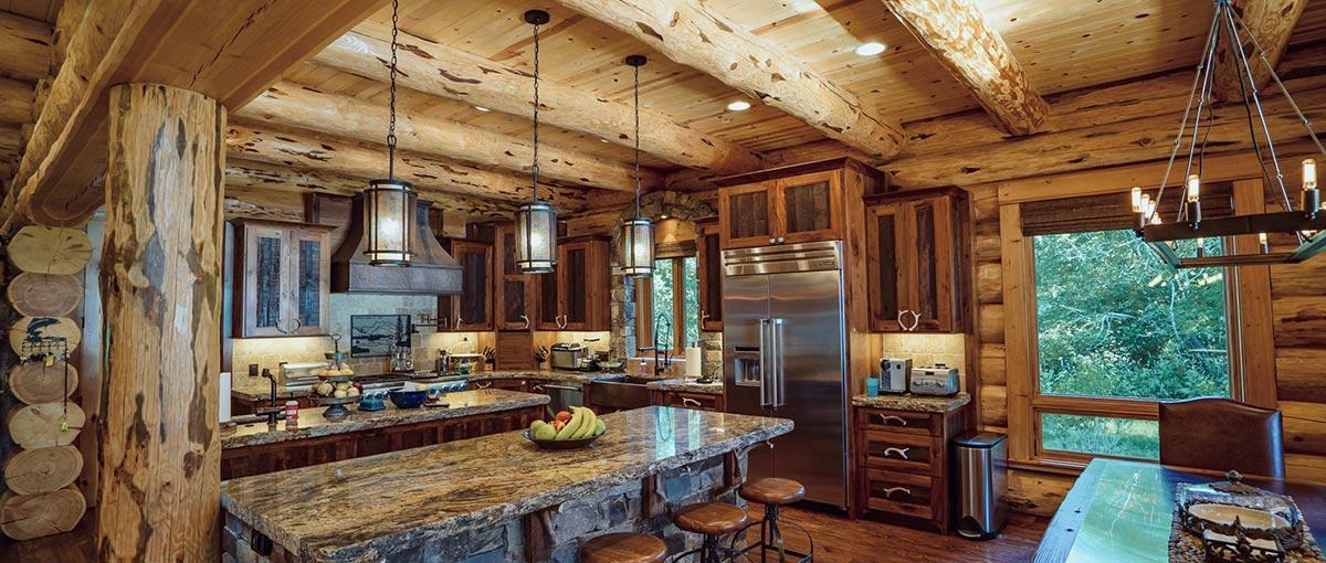 Montana Log Homes | Amish Log Builders | Meadowlark Log Homes