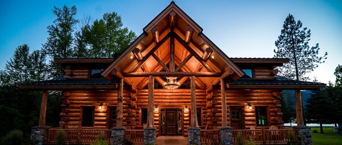 Montana Log Homes Amish Log Builders Meadowlark Log