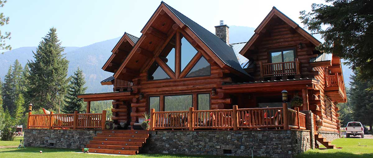 Montana Log Homes Amish Log Builders Meadowlark Log Homes