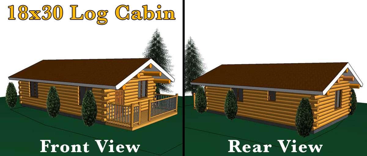 18x30 Log Cabin Meadowlark Log Homes