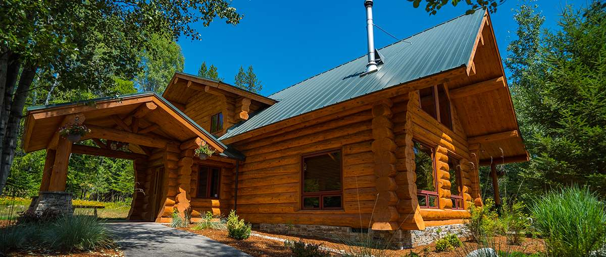 Priest Lake Log Lodge Meadowlark Log Homes