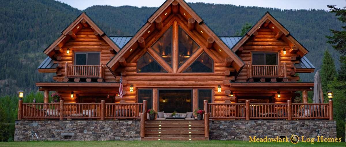 Montana Lodge Meadowlark Log Homes