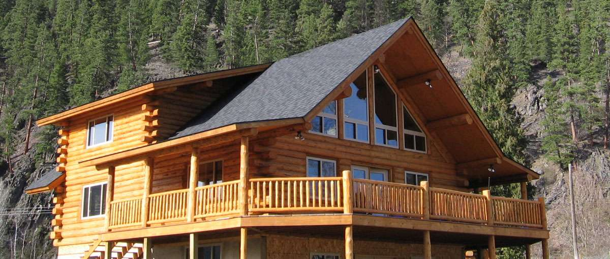 Kootenai chalet meadowlark log homes for Chalet homes
