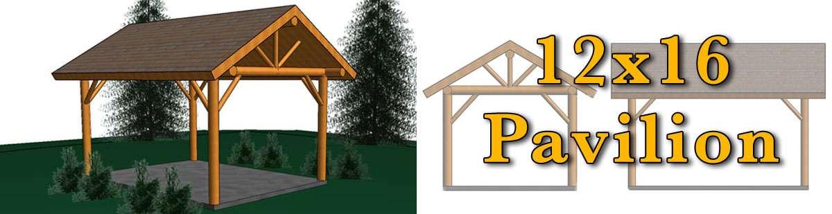 12x16 Log Pavilion - Meadowlark Log Homes