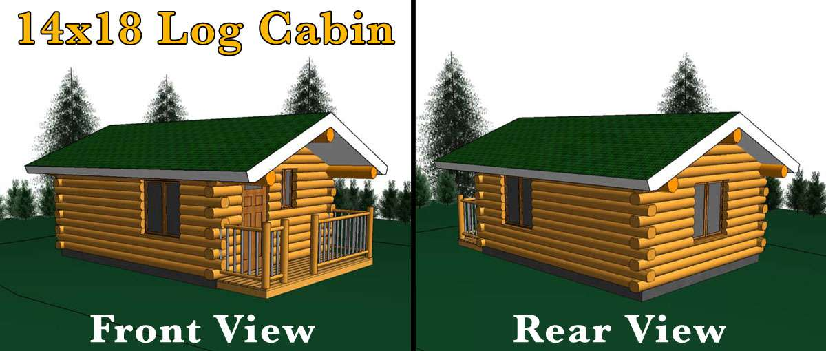 14x18 log cabin meadowlark log homes for 24x30 cabin