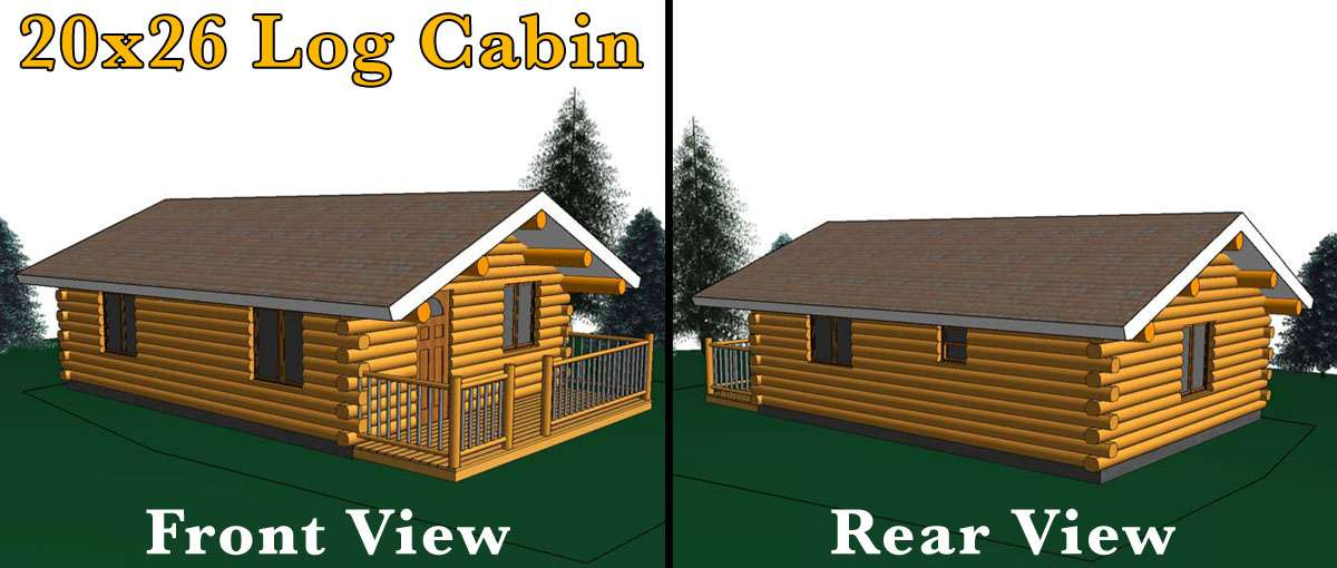 20x26 Log Cabin Meadowlark Log Homes