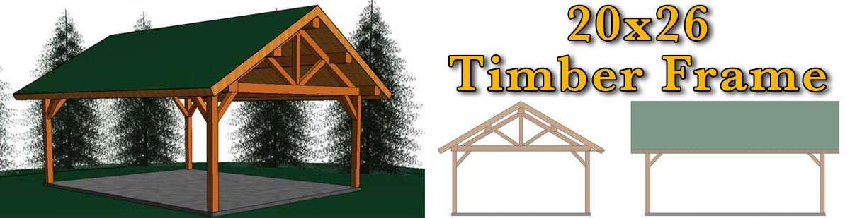 20x26 Timber Frame - Meadowlark Log Homes