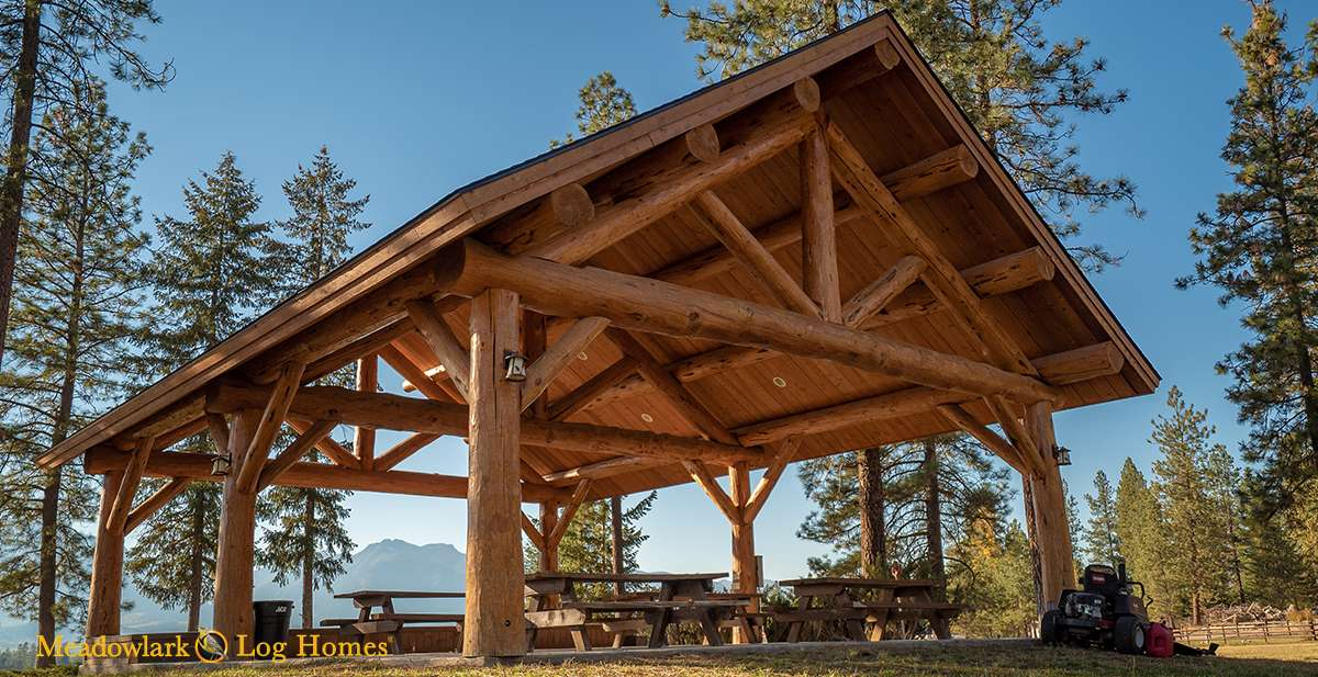 30x40 Log Pavilion Meadowlark Log Homes