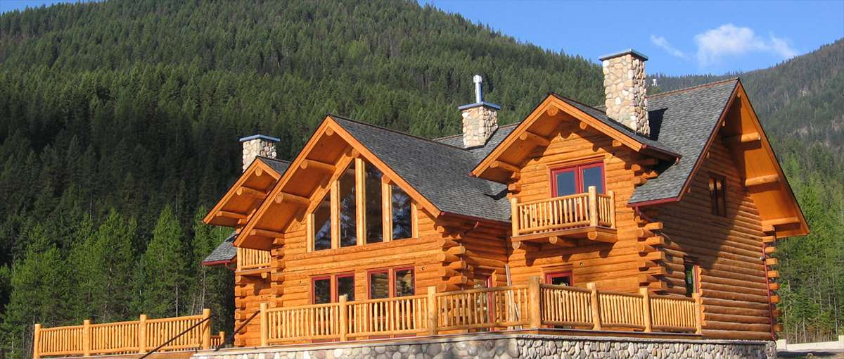 Bull Lake Log Lodge - Meadowlark Log Homes