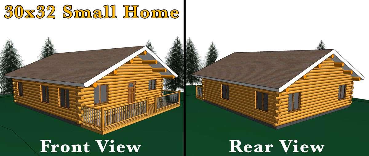 Log Home Meadowlark Homes